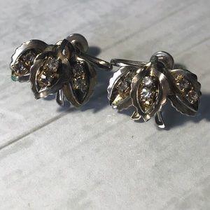 Vintage Art Deco screw back earrings